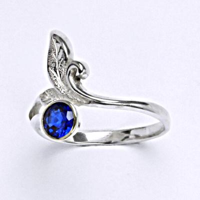 Stříbrný prsten se spinelem,prsten ze stříbra T 1029 Spinel