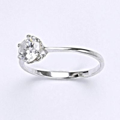 Stříbrný prsten s čirým zirkonem,prsten ze stříbra T 1022