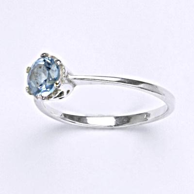 Stříbrný prsten s akvamarinem,prsten ze stříbra T 1022