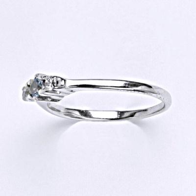 Stříbrný prsten s akvamarínem,prsten ze stříbra T 1264