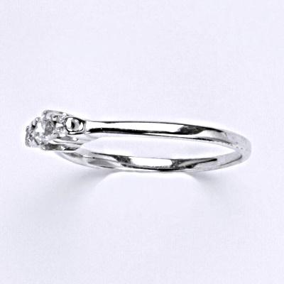 Stříbrný prsten s čirým zirkonem,prsten ze stříbra