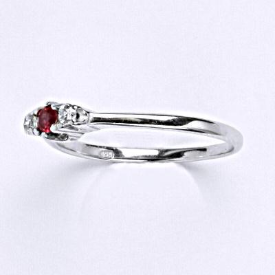 Stříbrný prsten s rubínem,prsten ze stříbra T 1222