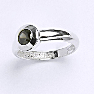 Stříbrný prsten se zirkonem,prsten ze stříbra T 1123