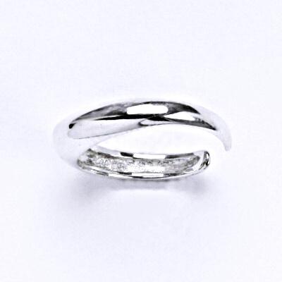 Stříbrný prsten, prstýnek na nohu, stříbro, T 790