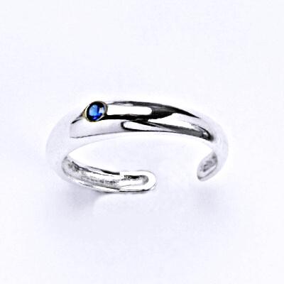 Prsten stříbrný na nohu se spinelem, T 1108 S