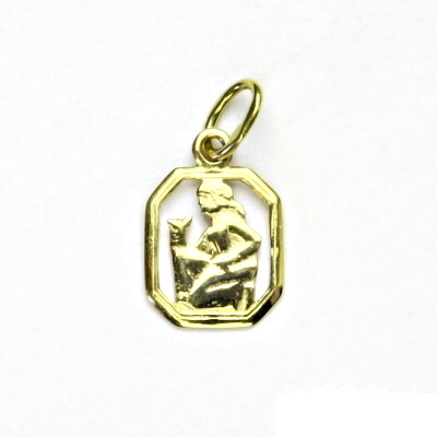 Zlatý přívěsek, žluté zlato, panna, znamení zvěrokruhu, přívěšek, P 127