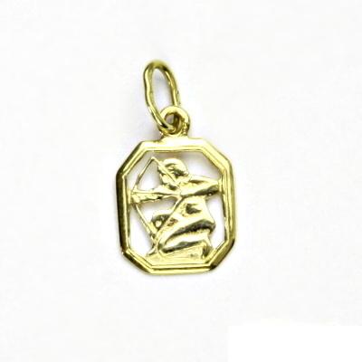 Zlatý přívěsek, žluté zlato, střelec, znamení zvěrokruhu, přívěšek, P 127