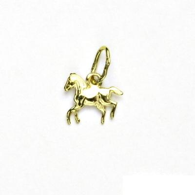 Zlatý přívěsek, kůň, žluté zlato, přívěšek ze zlata, P 14