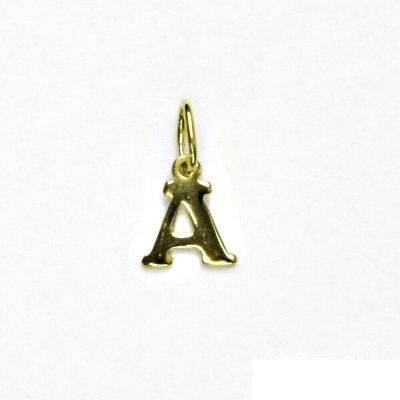 Zlatý přívěsek, písmenko A, písmeno, žluté zlato, přívěšek, P 744