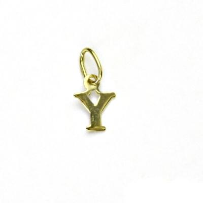 Zlatý přívěsek, písmenko Y, písmeno, žluté zlato, přívěšek, P 744