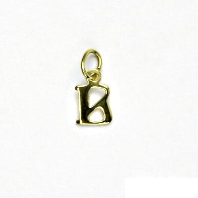 Zlatý přívěsek, písmenko B, písmeno, žluté zlato, přívěšek, P 744