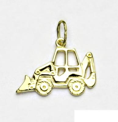 Zlatý přívěsek, bagr, přívěšek ze zlata, žluté zlato, P 709