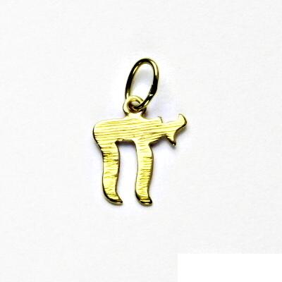 Zlatý přívěsek, žluté zlato, Chai, přívěšek ze zlata , P 156
