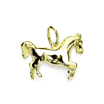 Zlatý přívěsek, žluté zlato, kůň, přívěšek ze zlata, koník, P 66