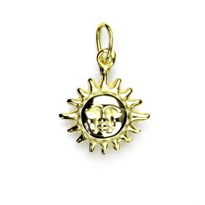 Zlatý přívěsek, žluté zlato, sluníčko, přívěšek ze zlata, P 713
