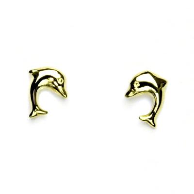 Zlaté náušnice, žluté zlato, delfín, náušnice ze zlata, delfínek, NŠ 726