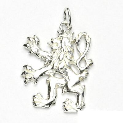 Zlatý přívěsek Český lev, bílé zlato, přívěšek ze zlata, P 925