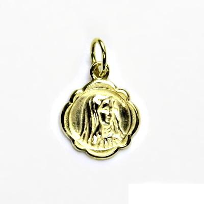 Zlatý přívěsek, žluté zlato, madonka, přívěsek ze zlata, P 123