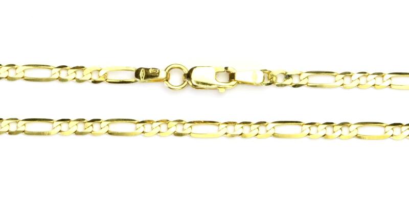 Řetízek ze žlutého zlata, zlatý řetízek, žluté zlato, 4,86 g