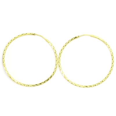 Zlaté náušnice, žluté zlato, kruhy, zlaté kruhy, 3,32 g
