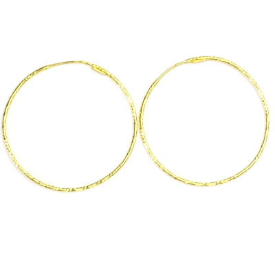 Zlaté náušnice, žluté zlato, kruhy, zlaté kruhy, 2,68 g