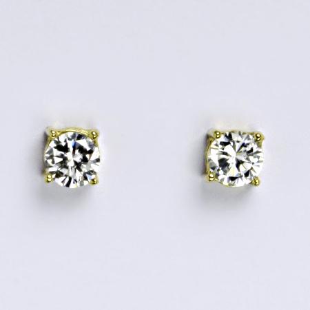 b8d55e786 Zlaté náušnice,čirý zirkon, žluté zlato 14 kt, NŠ 1251   České šperky