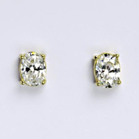Zlaté náušnice,čirý zirkon, žluté zlato 14 ct, váha 1,74 g,NŠ 1246