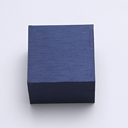 Krabička na šperky, prsten, náušnice, imitace dřeva modrá