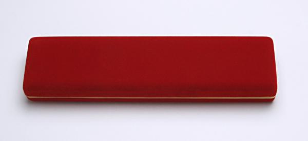 Sametová krabička na šperky, červená s Au linkou, CD-9/A7