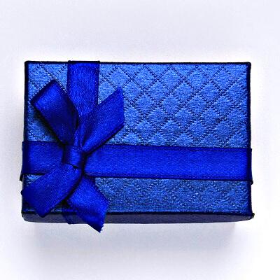 Papírová krabička na šperky, modrá, AT-7/A13/P