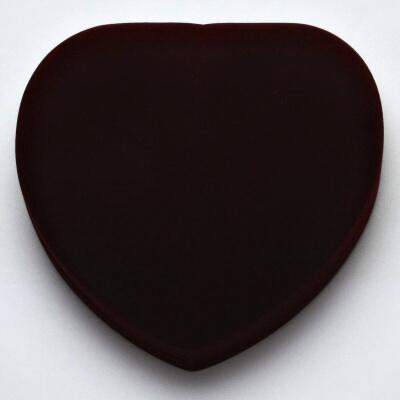 Sametová krabička na šperky srdce, náhrdelník, vínová,