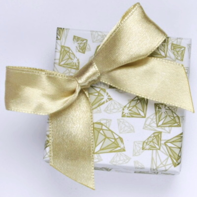 Papířová krabička na šperky s mašlí, diamantový motiv, sada,12420.D2