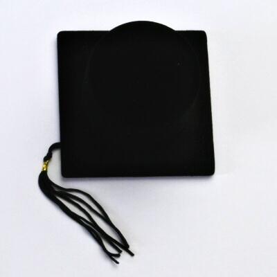 Sametová černá krabička, promoční klobouk, FU-91