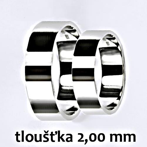 Snubní prsteny na zakázku žluté i bílé zlato, rovný profil 2 mm