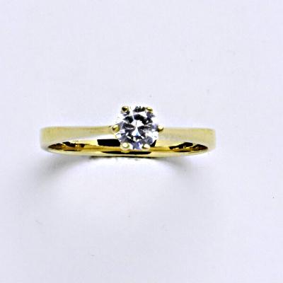 Prsten žluté zlato 2,34 g 14 karátů vel.56