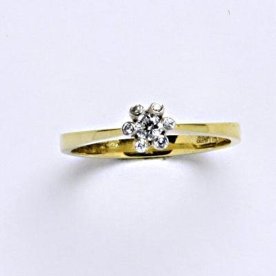 Prsten žluté zlato 2,67 g 14 karátů vel.57