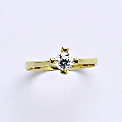Prsten žluté zlato 2,12 g 14 karátů vel.50