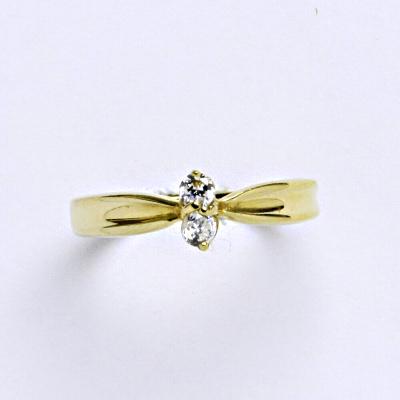 Prsten žluté zlato 2,51 g 14 karátů vel.52