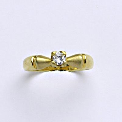 Prsten žluté zlato 2,01 g 14 karátů vel.50
