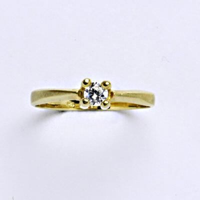 Prsten žluté zlato 2,00 g 14 karátů vel.55