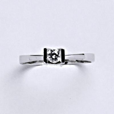 Prsten bílé zlato 1,67 g 14 karátů vel.54