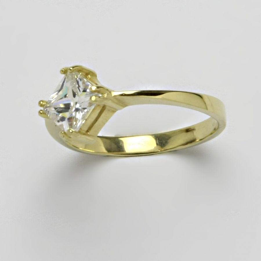 Prsten žluté zlato 2,78 g 14 karátů vel.57