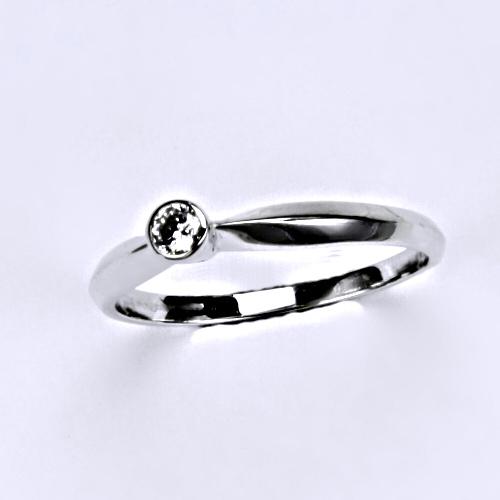 Prsten prsteny bílé zlato zirkon šperky zlaté VR 32