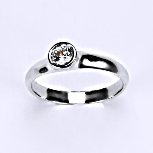 Prsten prsteny bílé zlato zirkon šperky zlaté VR 255