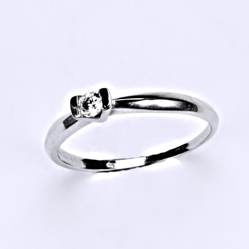 Prsten, prsteny bílé zlato, zirkon, šperky zlaté VR 31