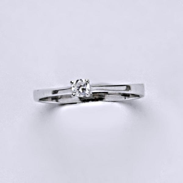 Prsten prsteny bílé zlato zirkon šperky zlaté VR 327