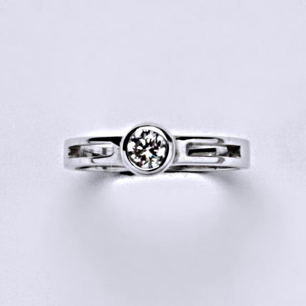 Prsten prsteny bílé zlato zirkon šperky zlaté VR 245