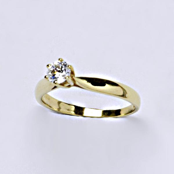 Prsten, prsteny žluté zlato, zirkon, šperky zlaté VR 329