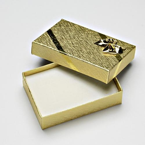 Papírová krabička na šperky, zlatá na sadu, SG-6/AU