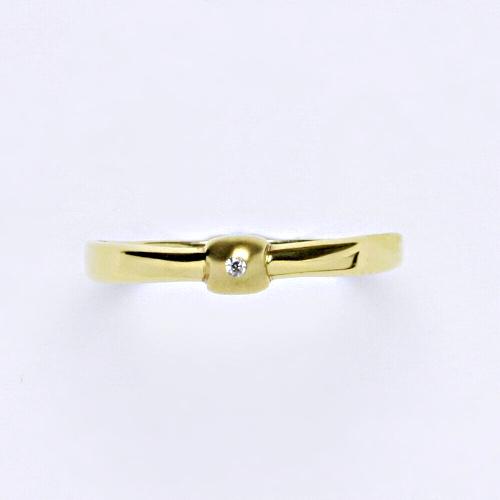 Zlatý prsten 1,30 g žluté zlato 14 karátů
